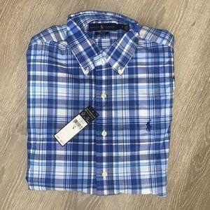 Men's Polo Stretch Long Sleeve Shirt
